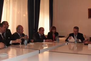 Delegacija evropskih jevrejskih zajednica na prijemu kod gradonačelnika Mugoše